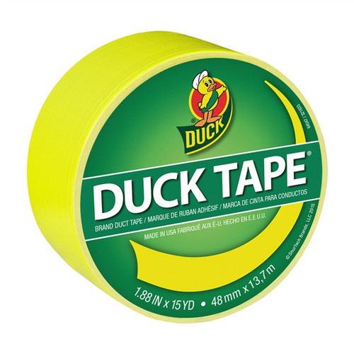 X-Factor Atomic Yellow Duck Tape Brand Duct Tape 1.88 inch x 15 yard Roll