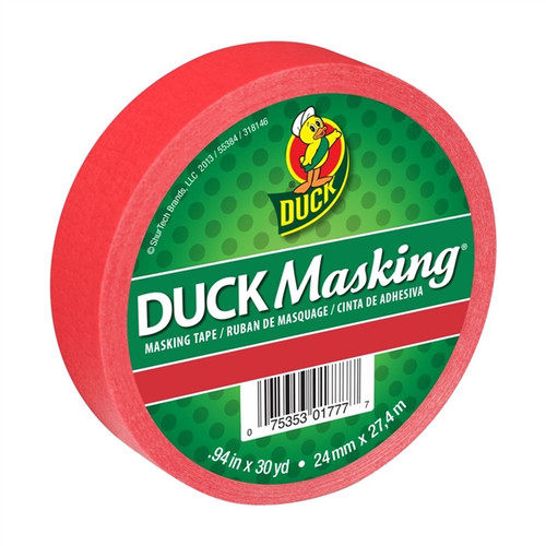 Red Duck Masking Color Masking Tape 0.94 inch x 30 yard Roll