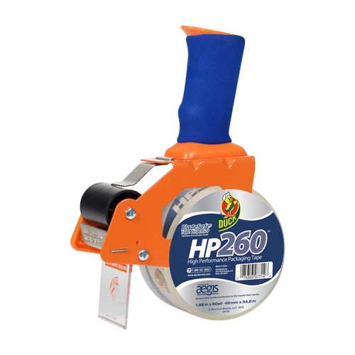 BladeSafe Tape Dispenser With HP 260 Packing Tape 1.88 inch x 60 yard Roll Clear (1078566)