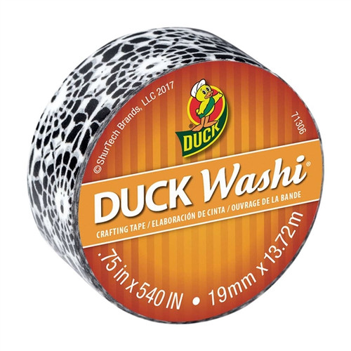 Black Medallion - Duck Washi Craft Rolling Tape 0.75 inch x 15 yard Roll