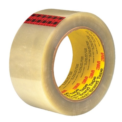 3M 351 Carton Sealing Tape Clear 2 inch x 55 yard Roll (6 Roll/Pack)