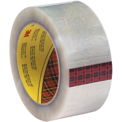 3M 355 Carton Sealing Tape Clear 2 inch x 55 yard Roll (6 Roll/Pack)