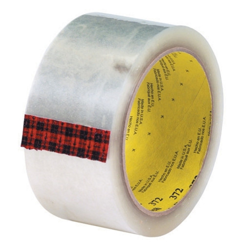 3M 372 Carton Sealing Tape Clear 2 inch x 55 yard Roll (36 Roll/Pack)