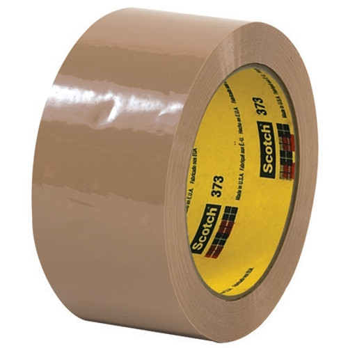 Carton Sealing Tape 3M 373 Tan 2 inch x 55 yard Roll (6 Roll/Pack)