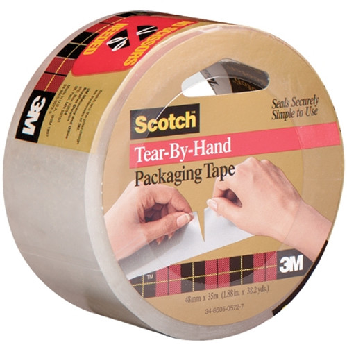 3M 3842 Carton Sealing Tape Clear 2 inch x 38 yard Roll (6 Roll/Pack)