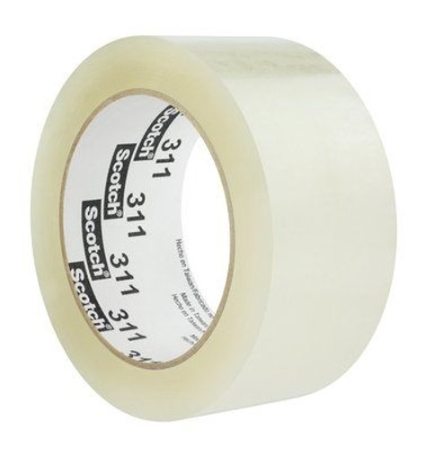 3M 311 Carton Sealing Tape Clear 2 inch x 110 yard Roll (6 Roll/Pack)
