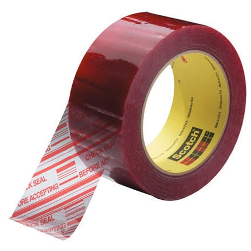 3M 3779 Security Tape CHECK SEAL BEFORE ACCEPTING 2 inch x 110 yard (6 Pack)
