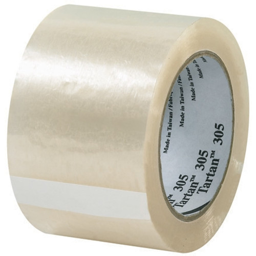 3M 305 Carton Sealing Tape Clear 3 inch x 110 yard Roll (6 Roll/Pack)