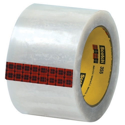 3M 355 Carton Sealing Tape Clear 3 inch x 55 yard Roll (24 Roll/Pack)