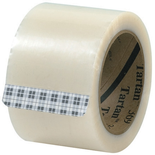 3M 369 Carton Sealing Tape Clear 3 inch x 110 yard Roll (6 Roll/Pack)