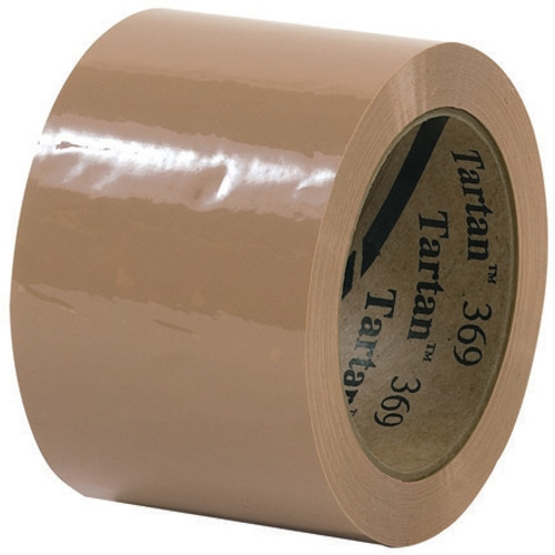 3M 369 Carton Sealing Tape Tan 3 inch x 110 yard Roll (6 Roll/Pack)