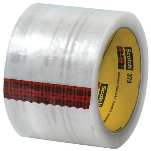 Carton Sealing Tape 3M 373 Clear 3 inch x 55 yard Roll (24 Roll/Pack)