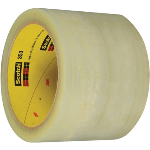 3M 353 Carton Sealing Tape Clear 3 inch x 55 yard Roll (6 Roll/Pack)