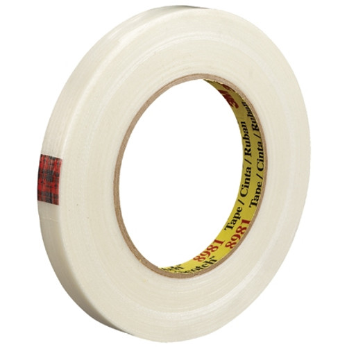 3M 8981 Strapping Tape 1/2 inch x 60 yard (72 Roll/Pack)