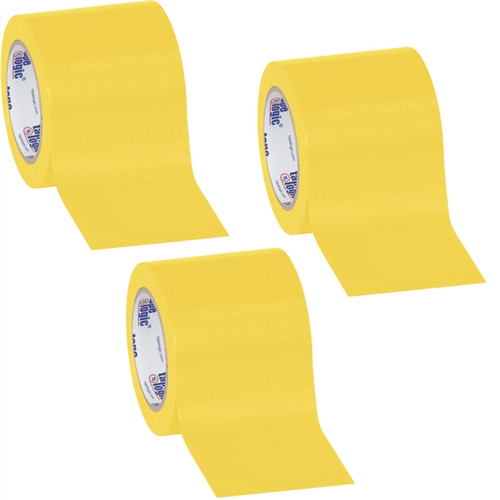 Tape Logic Yellow Solid Vinyl Safety Tape 4 inch x 36 yard Roll (3 Pack)