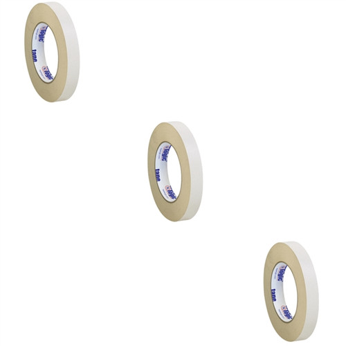 Tape Logic Double Sided Masking Tape 3/4 inch x 36 yard Roll (3 Pack)