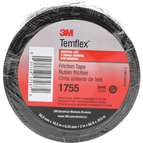 3M 1755 Cotton Friction Tape 3/4 inch x 60 ft Roll (20 Pack)