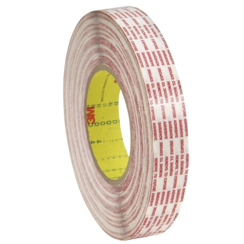 3M 476XL Double Sided Extended Liner Tape 1 inch x 540 yard Roll (6 Roll/Pack)