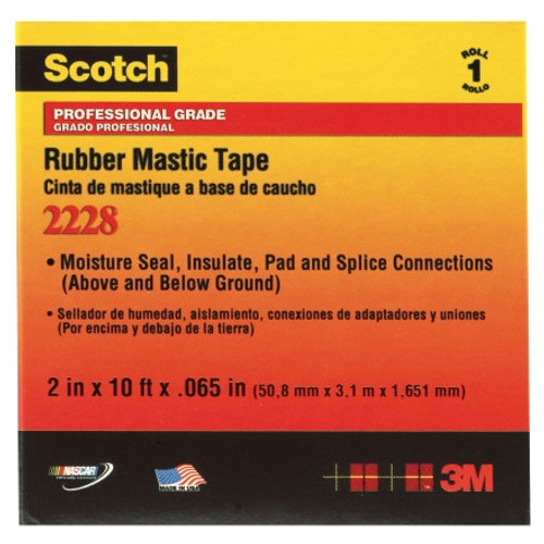 3M 2228 Rubber Mastic Tape 2 inch x 10 ft Roll (2 Pack)
