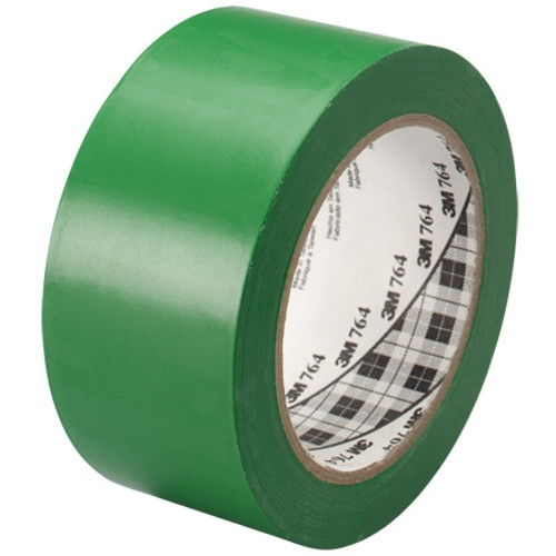 3M General Purpose Vinyl Tape 764 Green 2 inch x 36 yard Roll (6 Pack)