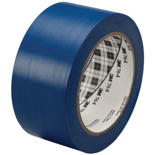 3M General Purpose Vinyl Tape 764 Blue 2 inch x 36 yard Roll (6 Pack)