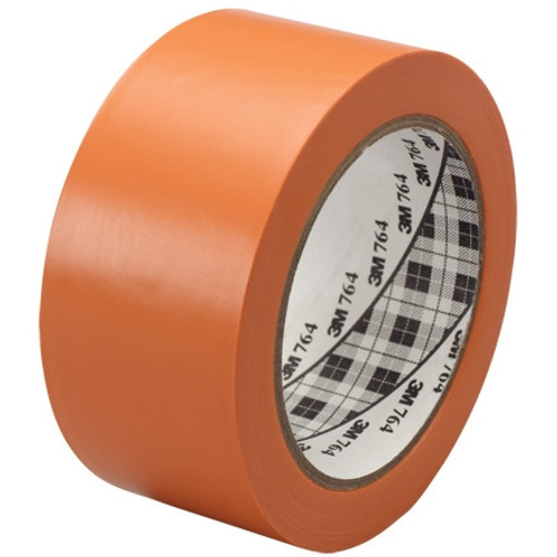 3M General Purpose Vinyl Tape 764 Orange 2 inch x 36 yard Roll (24 Roll/Pack)