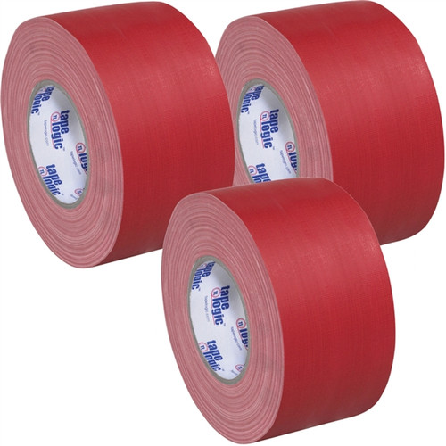 Tape Logic 11 Mil Gaffers Tape Red 4 inch x 60 yard Roll (3 Pack)