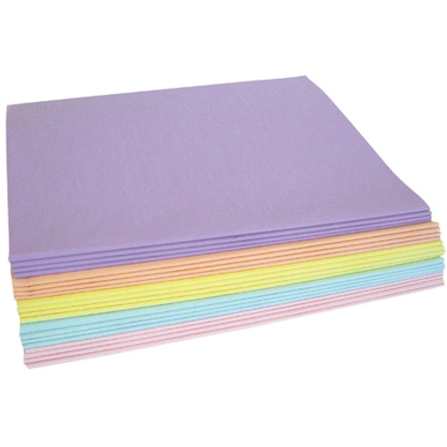 Tissue Paper Pastel Assortment Pack 20 inch x 30 inch (480 Per/Pack)
