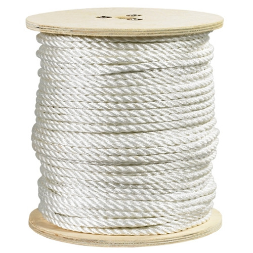 Twisted Polyester Rope White 1/4 inch x 600 ft Spool
