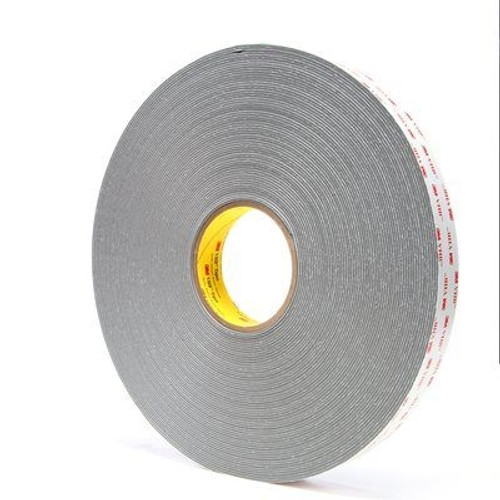 3M 4956 VHB Tape Gray 1/2 inch x 5 yard Roll (62 Mil)