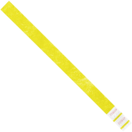 Tyvek® Wristbands Yellow 3/4 inch x 10 inch (500 Per/Pack)