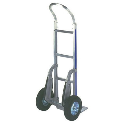 Continuous Handle Aluminum Hand Truck with Solid Rubber Wheels