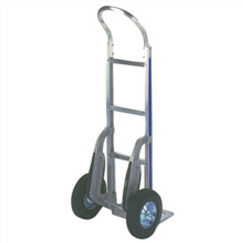 Continuous Handle Aluminum Hand Truck with Semi-Pneumatic Wheels