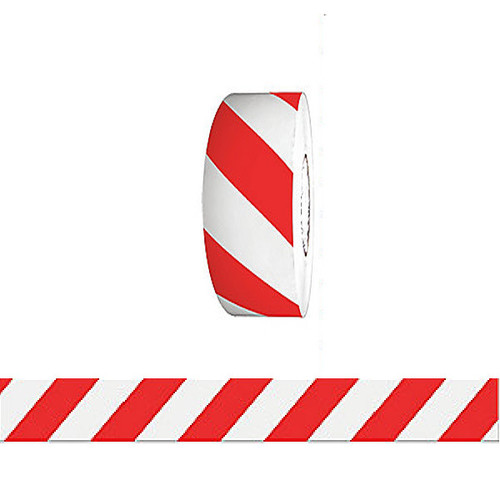 """Barricade Tape - Red & White Stripe 3"""" x 1000 ft Non Adhesive 3 mil Roll"""