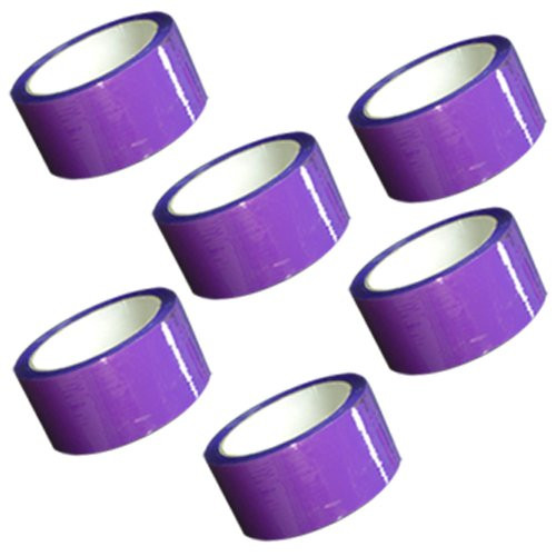 "Purple Carton Sealing Tape 2"" x 55 yard Roll 2.0 mil (6 Pack)"