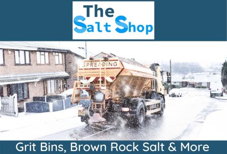 The Salt shop Broown Rock salt and Grit Bins