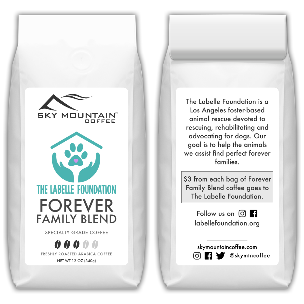 The Labelle Foundation Forever Family Coffee Blend front and back