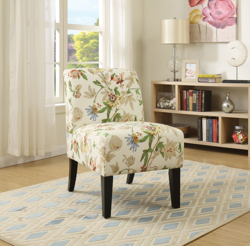 The Ollano Accent Chair W/ Floral Fabric Finish