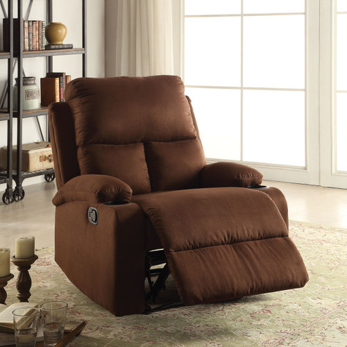 The Rosia Recliner (Motion) W/ Chocolate Microfiber Finish