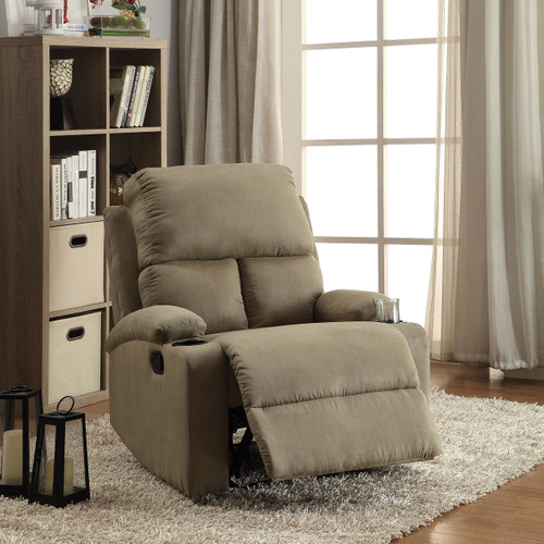 The Rosia Recliner (Motion) W/ Sage Microfiber Finish