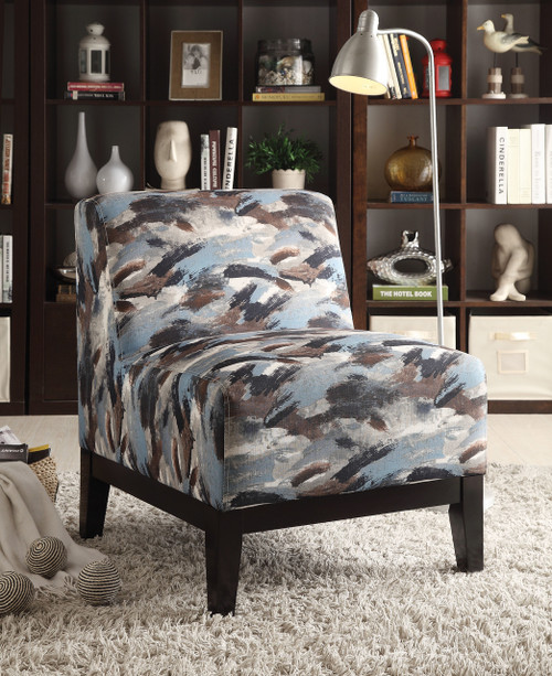The Hinte- Accent Chair W/ Pattern Fabric Finish