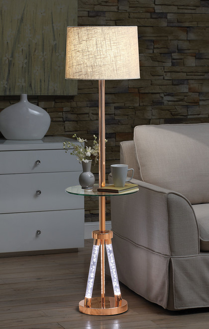 The Cici Floor Lamp W/ Rose Gold Finish