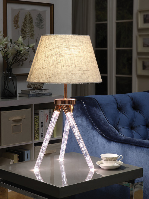 The Cici Table Lamp W/ Rose Gold Finish