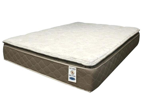 """Sleep like a baby on the Englander Silver twin-size mattress and wake up to a new day feeling relaxed and rejuvenated. -12"""" Pillow Top"""