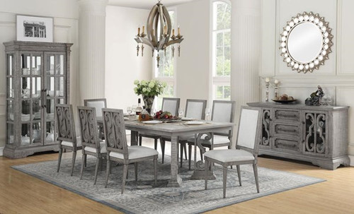 The Artesia.. Dining Table W/ Salvaged Natural Finish