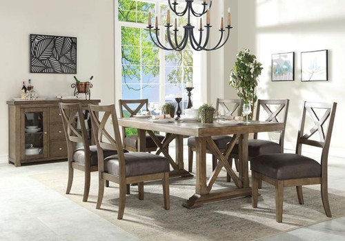 The Boyden Dining Table W/ Antique Oak Finish