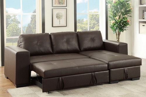 Espresso Convertible Sectional