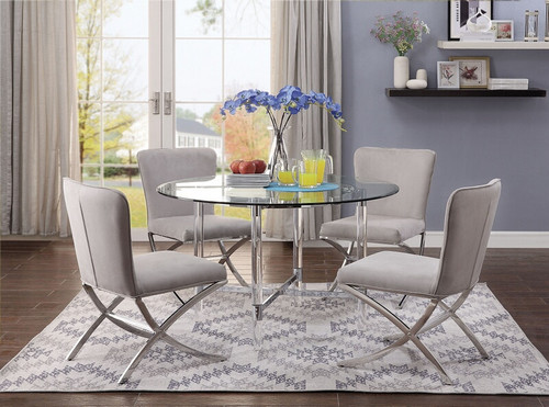 """The Daire   48""""Glass Dining Table"""