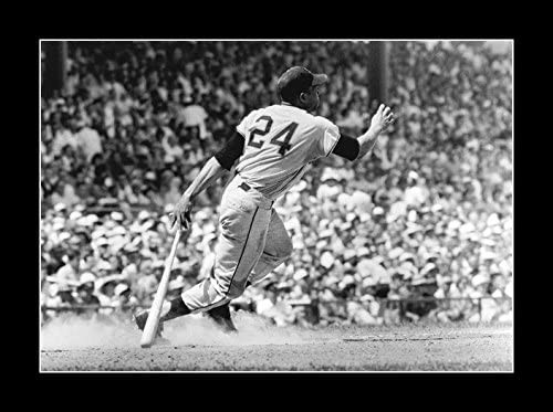8 x 10 Framed print Under Glass all-wood  willie mays his home run