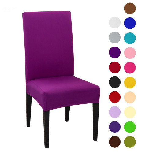1pc Solid Color Chair Cover Spandex Slipcovers